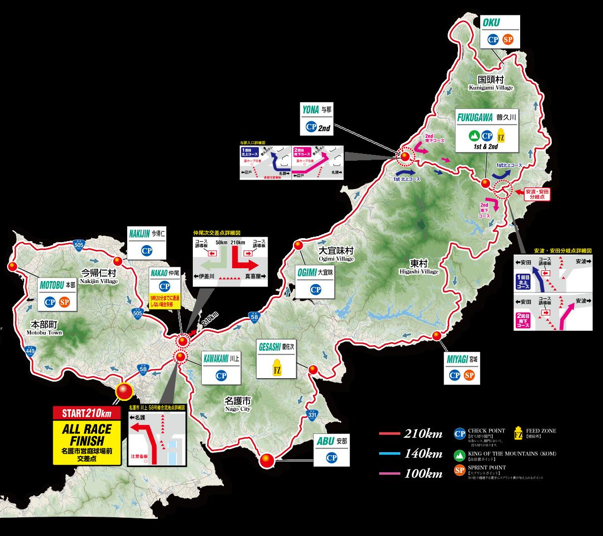 市民レース 210kmマップ
